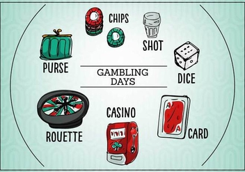 Free Gambling Day Vector - Free vector #360271