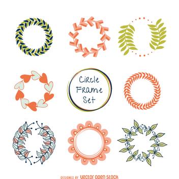 Pastel tones frame set - vector #360541 gratis