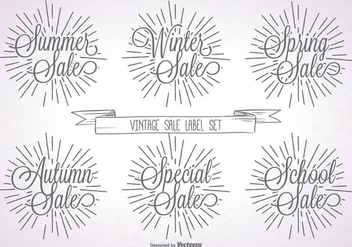 Promotional Vintage Label Set - vector gratuit #360681