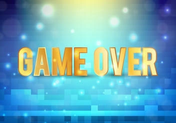 Free Vector Pixel Message: Game Over - Free vector #360861