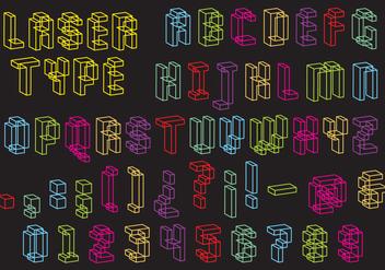 Laser Type Vector - Free vector #360931