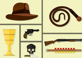 Indiana Jones Vectors - бесплатный vector #361081
