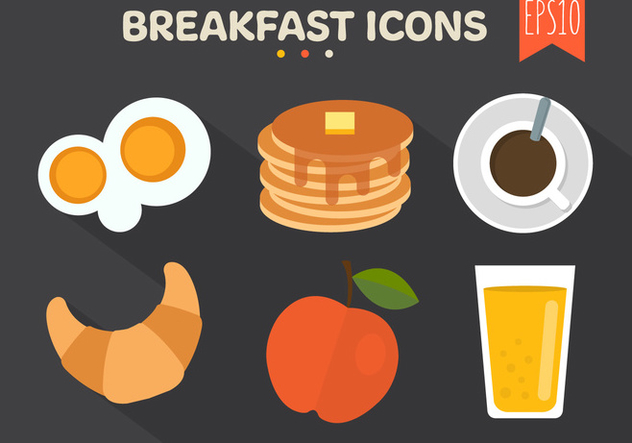 Breakfast Icons Background - Free vector #361201