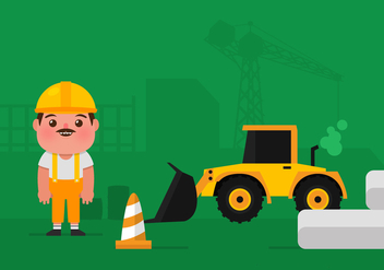 Vector Construction Worker - vector gratuit #361261