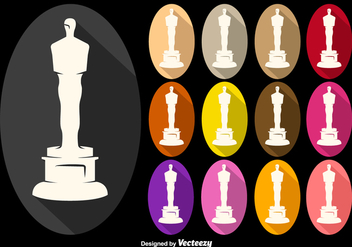 Vector Oscar Statuette Icons Collection - Free vector #361301