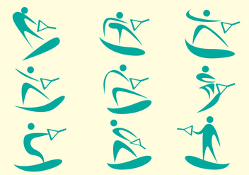 Water Skiing Vector - бесплатный vector #361311