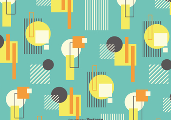 Vector Background With Retro Bauhaus Style Forms - Kostenloses vector #361321