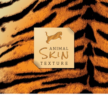 Realistic tiger skin texture - Free vector #361451