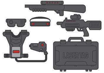 Laser Tag Vector - Free vector #361681