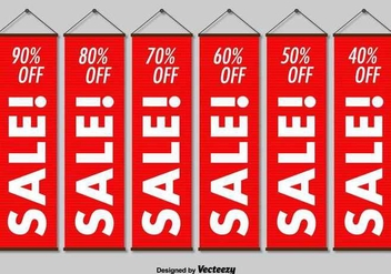 Hanging Sale Banners - Free vector #361881