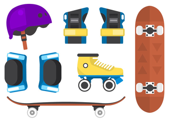 Roller Skating Vector Backgorund - Free vector #362071