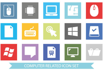 Computer Accessories Icon Set - бесплатный vector #362101