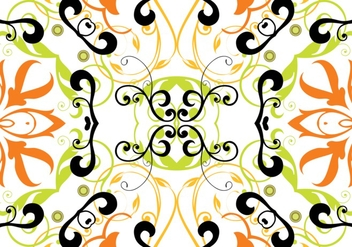 Floral Pattern Background Vector - Kostenloses vector #362201