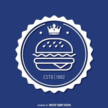 Circular fast food insignia - Free vector #362231