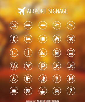 Airport signs collection - vector #362281 gratis
