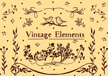 Free Vintage Elements Vector Background - Kostenloses vector #362511