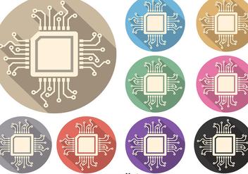 Microchip Vector Symbol Set - Kostenloses vector #362531