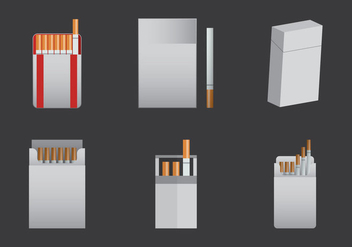 Free Cigarette Pack Vector Illustration - Free vector #362591