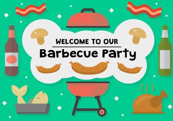 Free Barbecue Party Vector - vector #362631 gratis