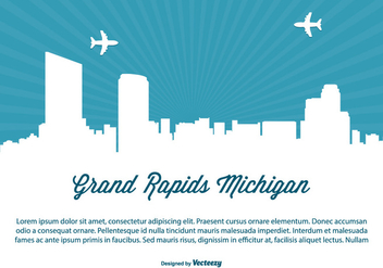 Grand Rapids Michigan Skyline Illustration - vector gratuit #362741