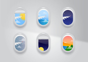 Vector Plane Window - vector gratuit #362781