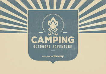 Retro Camping Background Illustration - vector gratuit #362851