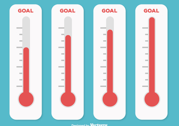Goal Thermometer Illustration - Free vector #362871