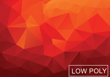 Warm Red Polygonal Background Vector - Free vector #362951