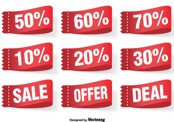Discount Vector Labels Set - Kostenloses vector #363151