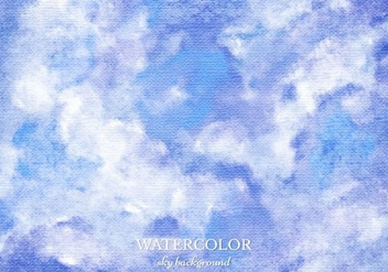 Free Vector Watercolor Sky Background - Free vector #363421