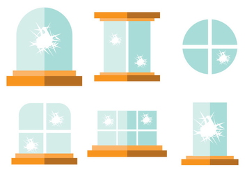 Broken Window - Free vector #363601