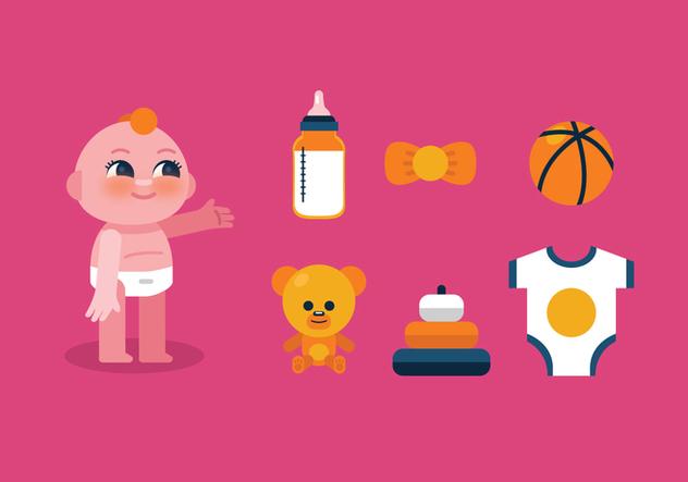 Vector Baby Stuff - бесплатный vector #364181