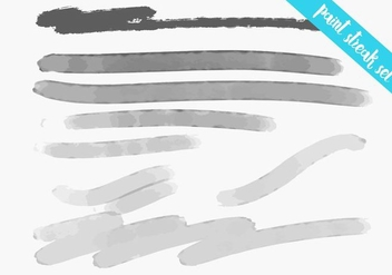 Paint Streak - Watercolor Texture Set - Free vector #364311