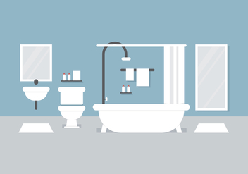 Vector Bathroom Set - Free vector #364541