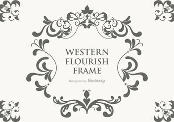 Free Vector Western Flourish Frame - vector gratuit #364611