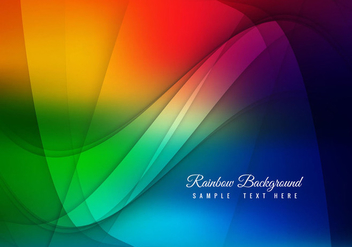 Free Vector Rainbow Background - Free vector #364621