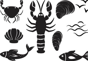 Free Seafood Vectors - Free vector #364781