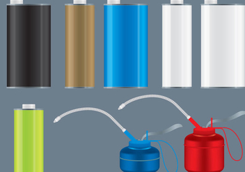 Oil Cans - vector gratuit #364961