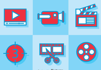 Video Editing icons - vector #364991 gratis