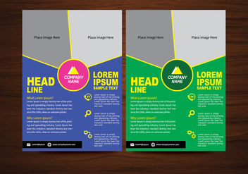 Vector Brochure Flyer design Layout template in A4 size - vector #365031 gratis