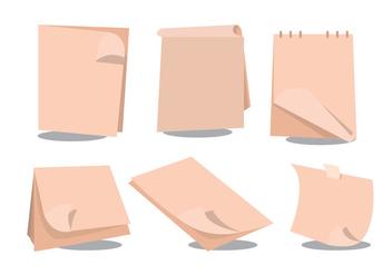 Page Flip Vector Set - vector gratuit #365131