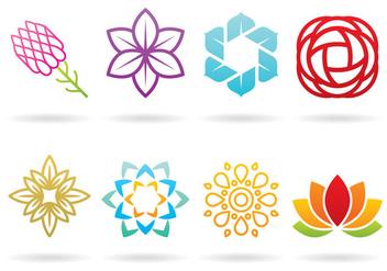 Flower Logos - Free vector #365151