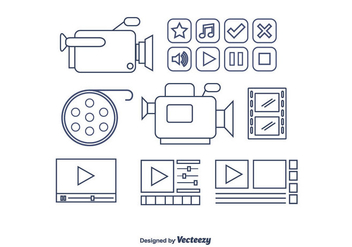 Video Editing Vector - Kostenloses vector #365341