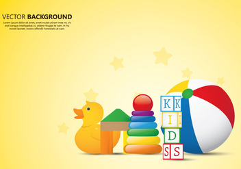 Kids Toys Background - vector gratuit #365411
