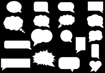 Free White Speech Bubble Vector - Kostenloses vector #365681