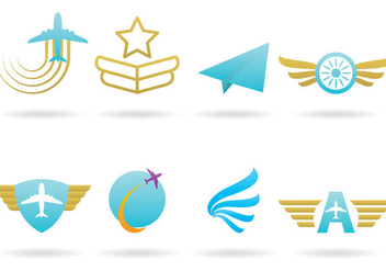 Airplane Logos - Free vector #365761