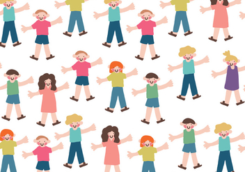 Vector Children Pattern - vector gratuit #365781