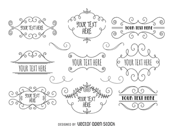 Vintage label and sign collection - vector gratuit #365981