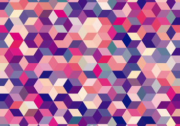Abstract Colored Cubes Background - vector gratuit #366071