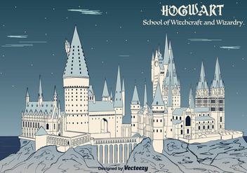 Hogwarts Background Vector - Free vector #366121